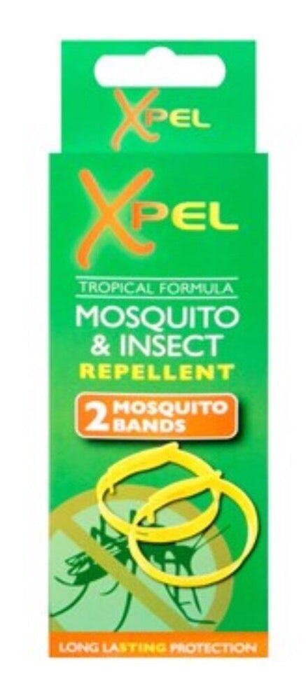 4x Xpel Anti Mosquito Insect Fly Repellent Holiday Wrist Ankle Bands Citronella