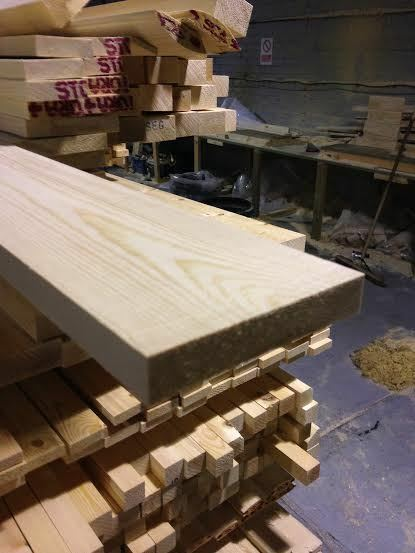 PINE TIMBER 6X1 PLANED PSE 120X20 50 METERS £1.65 PER METER