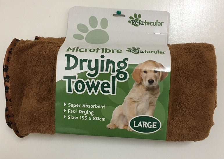MUDDY PUPS PET LARGE LUXURY MICROFIBRE DRYING TOWEL DOG / CAT WASHING BATH