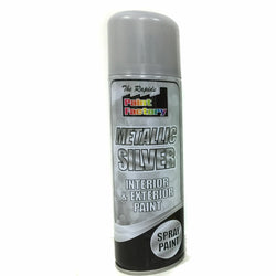 10 x Metallic Silver Spray Paint Interior & Exterior Spray Aerosol Can 200ml