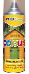 Daybreak Yellow Garden Aerosol Spray Paint Lasting Shades For Wood 400ml