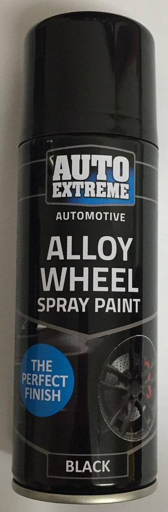 2 x 200ml Black Satin Alloy Wheel Spray Can Restorer Car Bike Auto Paint