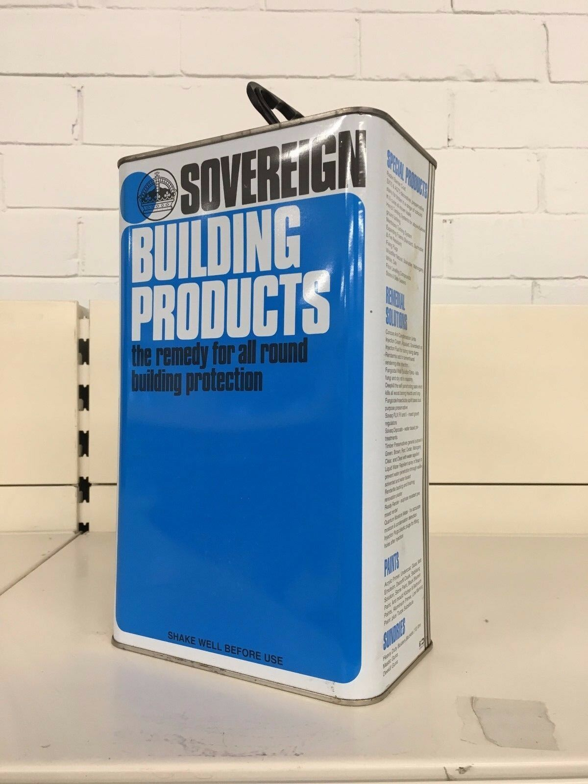 SOVEREIGN TIMBER PRESERVATIVE BROWN 5 LITRE for collection