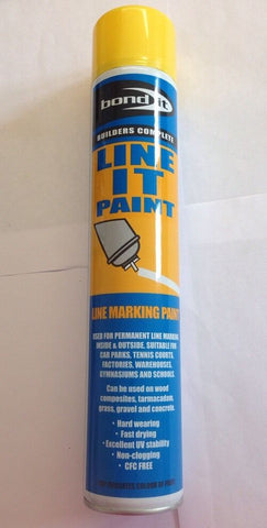 Bond It - Line Marker Paint Yellow