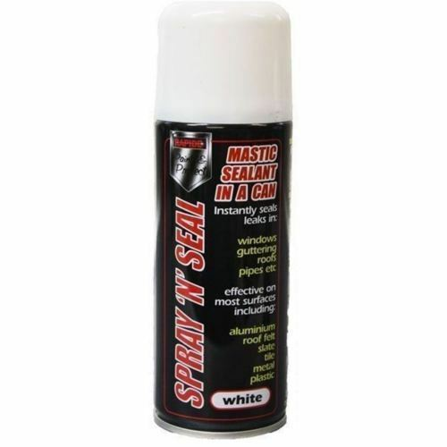 6 x Spray Mastic Instant Leak stop Spray N Seal Roofs Gutters pipes 200ml WHITE