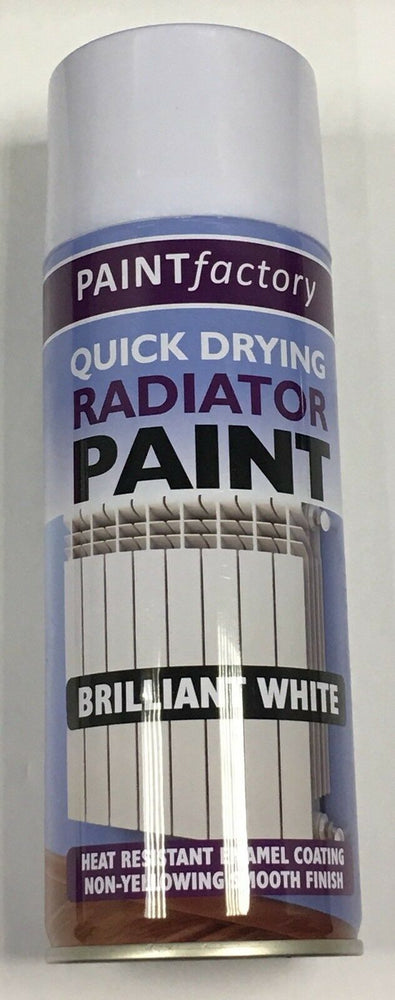 1 x Radiator Enamel White Gloss Paint Spray Aerosol 400ml DIY Metal Wood Etc.