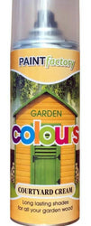 Courtyard Cream Garden Aerosol Spray Paint Lasting Shades For Wood 400ml