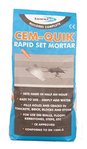 3KG Cemquik Bond it Rapid Set Cement Grey Building Supplies