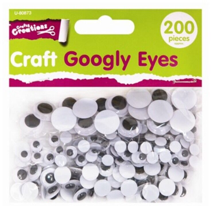 Googly Eyes 200 Pack assorted sizes Arts and Crafts Decoration