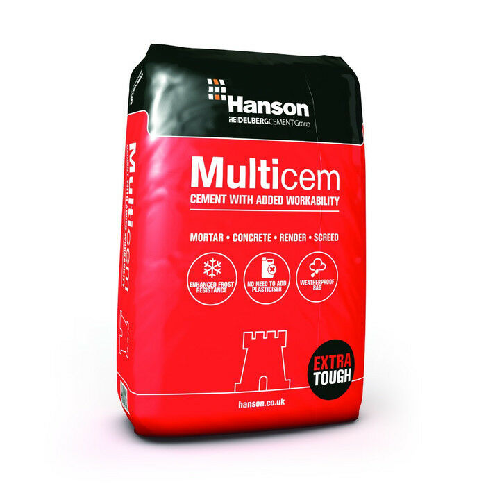 Hanson Castle 25Kg Bag Multicem Plastic Bag Cement