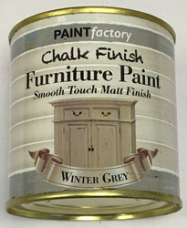 2 x 250ml Shabby Chic Effect Chalk finish Furniture Paint Winter Grey