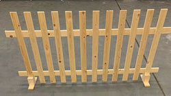 Wooden Picket Fence FLAT TOP Garden Panels 6ftx3ft Planed X 1 PANEL