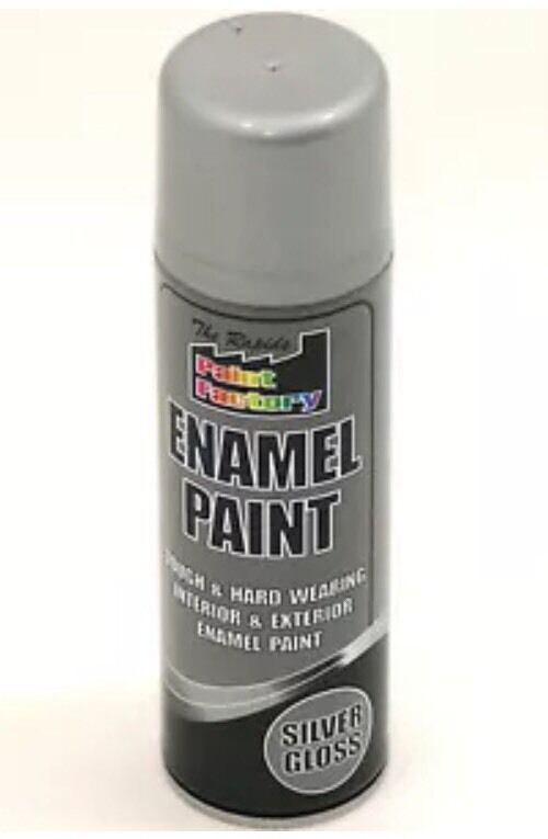 3 x Enamel Silver Gloss Paint Spray Aerosol 400ml Radiator Metal Wood Etc. Tough