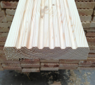 UNTREATED PINE TIMBER DECKING BOARDS 120 X 20MM