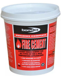 HIGH TEMPERATURE HEAT RESISTANT FIRE CEMENT READY MIXED 2kg READY-TO-USE