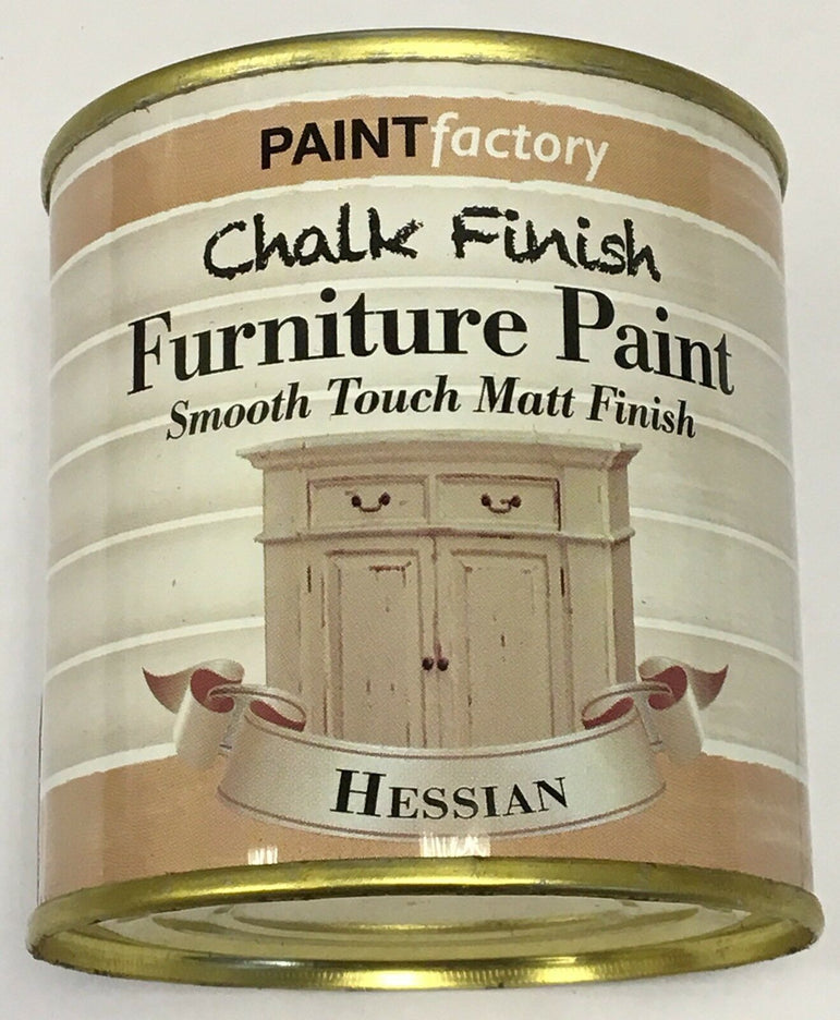 4 x 250ml Shabby Chic Effect Chalk finish Furniture Paint Hessian