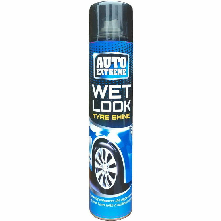4 x Auto Professional Wet Look Tyre Shine Restorer Spray Car Rubber 300ml