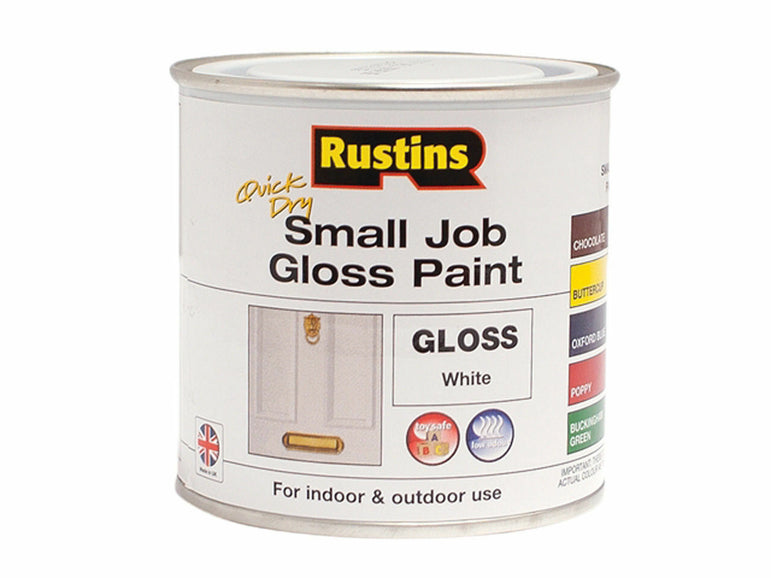 Rustins Quick Dry Small Job Paint White Gloss 250ml