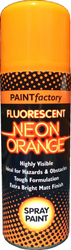 4 x 200ml Fluorescent Neon Orange Spray Paint Matt Creative Paint