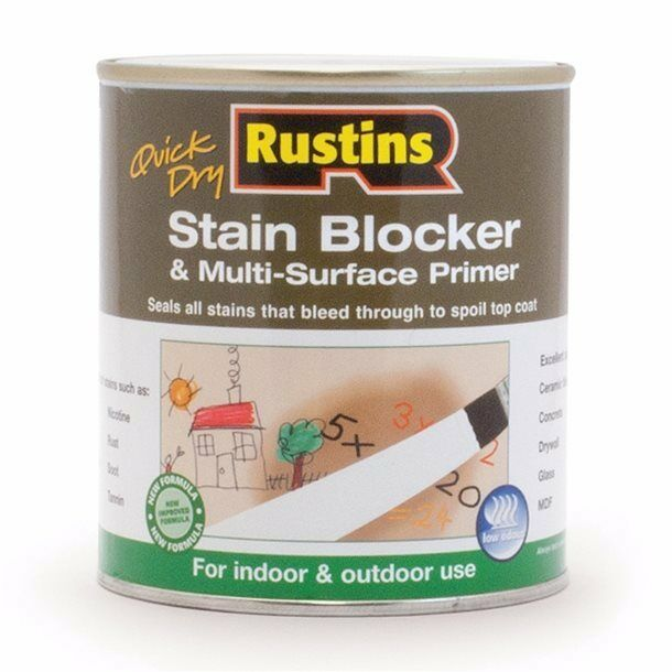 Rustins Quick Dry Stain Block & Multi Surface Primer 500ml