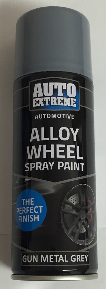 4 x 200ml Gun Metal Grey Alloy Wheel Spray Can Restorer Car Bike Auto Paint