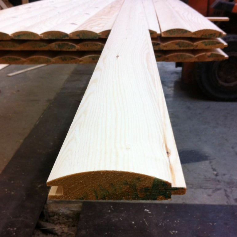 Pine Timber T&G Loglap Cladding 85 X 22mm 2.4MTR X 2 Lengths
