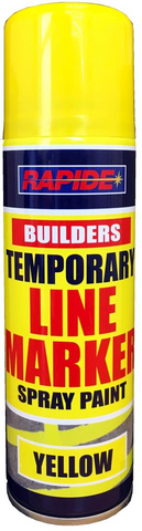 Temporary Yellow Line Marker 250ml Construction Spray Paint