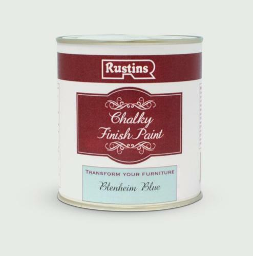 Rustins Chalky Finish 500ml Blenheim Blue Chalk Paint, Shabby Chic