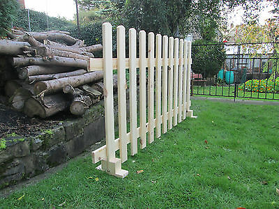 Timber Free standing Picket Fence Panels Smooth Timber 6ft X 3ft FREE DELIVERY