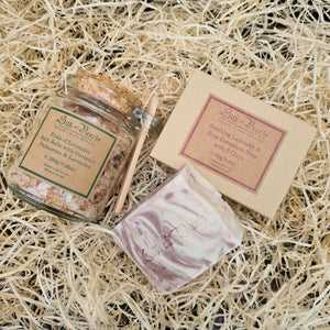 Field of Lavender Bath Salts & 3 Clays Soap Spa Starter