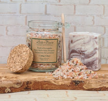 Load image into Gallery viewer, Lavender soap and bath salts