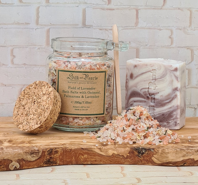 Lavender soap and bath salts