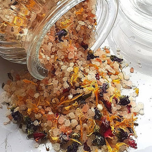 Bath Salts with flowers