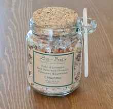 Load image into Gallery viewer, Field of Lavender Bath Salts with Oatmeal, Palmarosa & Lavender - 520g / 200g