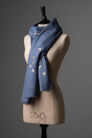 Cashmere Scarf - Bee Design