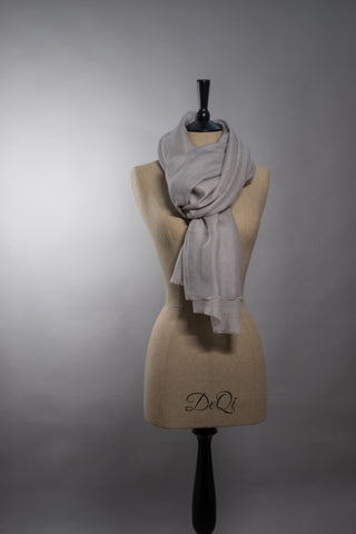 Superfine Luxury Cashmere Shawl - Silver Grey