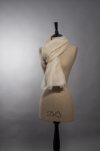 Superfine Luxury Cashmere Shawl - Vanilla