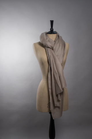 Superfine Luxury Cashmere Shawl - Natural