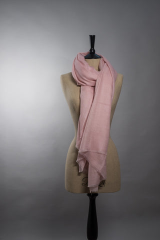 Superfine Luxury Cashmere Shawl - Pale Pink