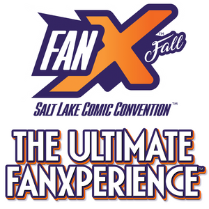 FanX logo, WaterBearer Press at FanX Salt Lake Convention September 2020