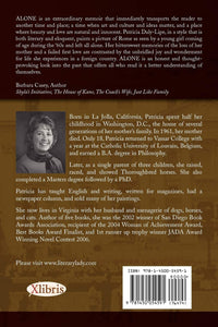 All Alone back cover copy with author pic