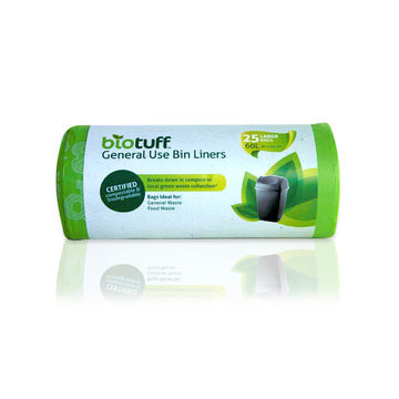 Bio Tuff General Use Bin Liners - Large 60L