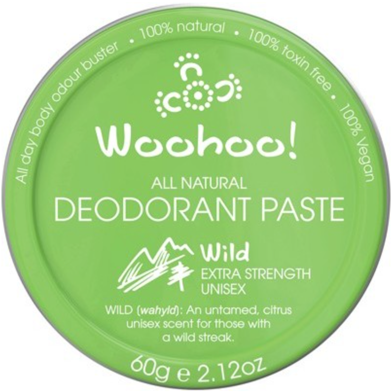 WOOHOO BODY Deodorant Paste (Tin)  Wild - Extra Strength 60g
