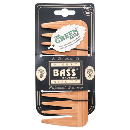 Bass Brushes Bamboo Comb Medium - Wide Tooth