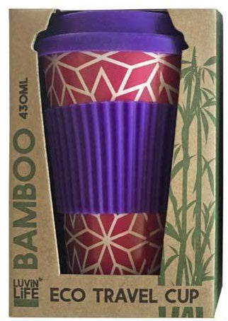 Luvin Life Bamboo Eco Travel Cup - Stars 430ml