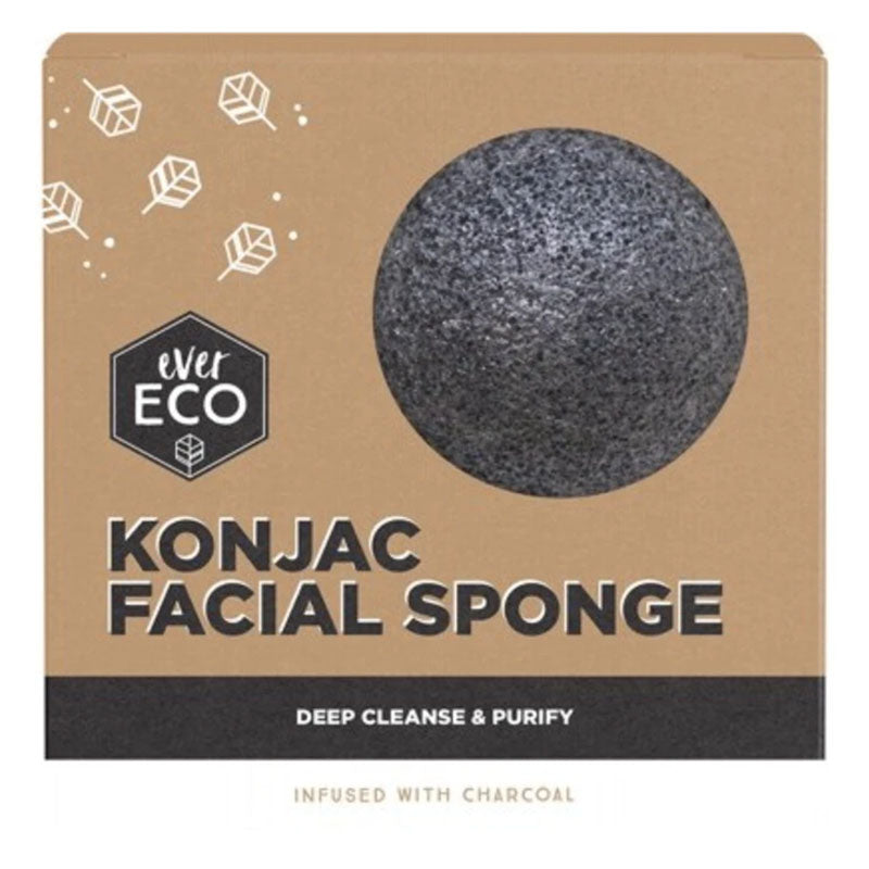Ever Eco Konjac Facial Sponge - Charcoal