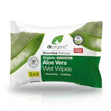 Dr Organic Aloe Vera Wet Wipes 20 Pack