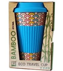 Luvin Life Bamboo Eco Travel Cup - Hoops 430ml