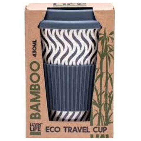 Luvin Life Bamboo Eco Travel Cup - Wave 430ml