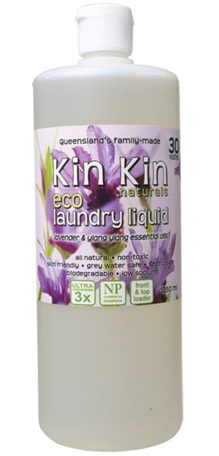 Kin Kin Naturals Eco Laundry Liquid - Lavender & Yang Ylang Essential Oils 1050ml